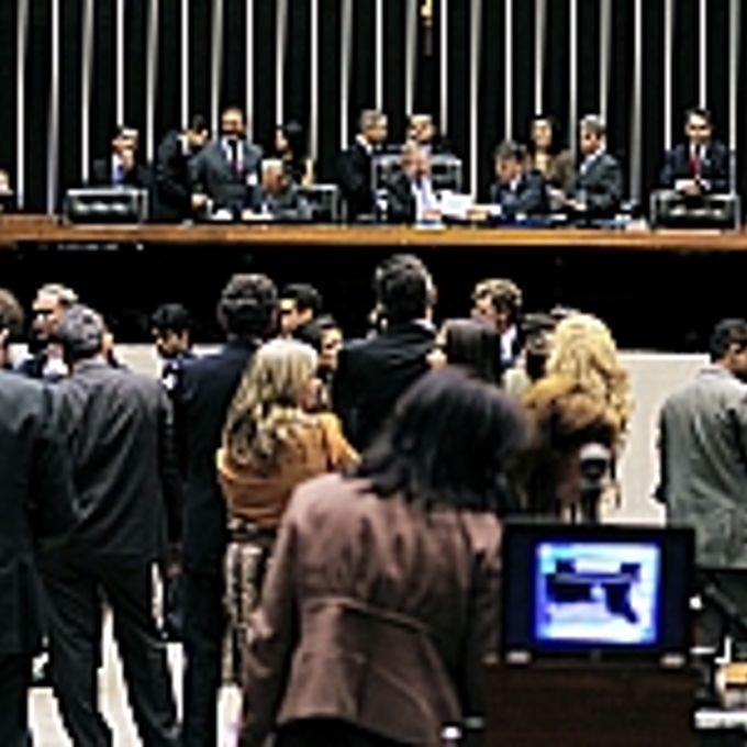 Sessão Extraordinária - terceiro secretário Inocêncio Oliveira, presidente Marco Maia e secretário-geral Sérgio Sampaio