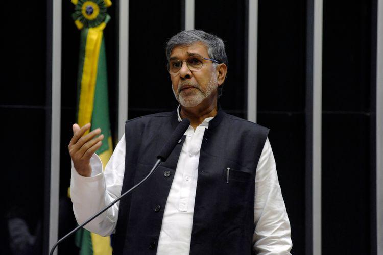 Prêmio Nobel da Paz de 2014 Kailash Satyarthi, durante sessão Solene