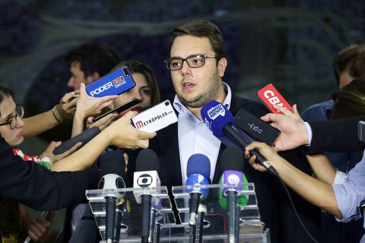 Coletiva sobre a Reforma da Previdência. Dep. Felipe Francischini (PSL - PR)