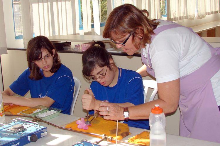 Educação - Ensino Especial -  Aulas de Artesanato APAE