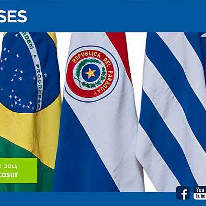 Relações Exteriores - Mercosul bandeiras bloco econômico