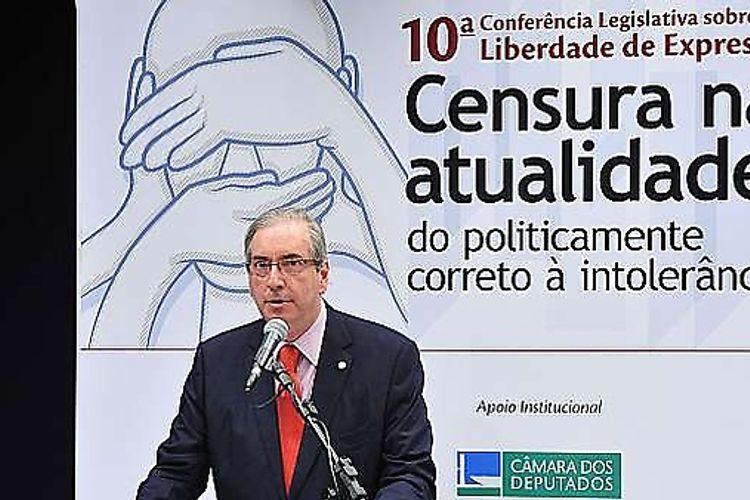 10ª Conferência Legislativa Sobre Liberdade de Expressão com o tema: Censura na atualidade: do politicamente correto à intolerância. Presidente da Câmara, dep. Eduardo Cunha (PMDB-RJ)