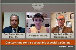 Capa - Queixa-crime contra o secretário especial da Cultura