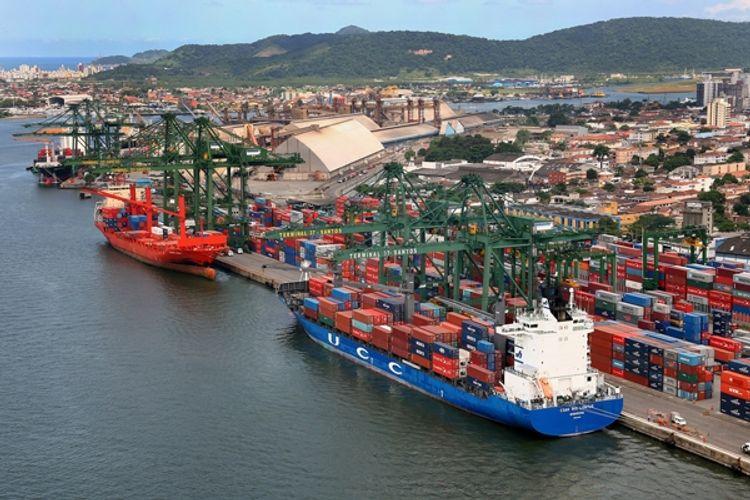 Transporte - barcos e portos - Porto de Itaguaí, no Rio de Janeiro