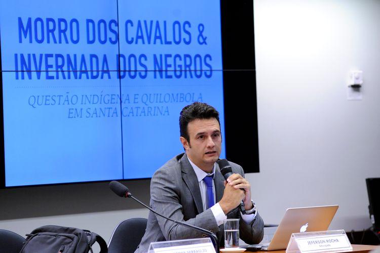 Audiência pública para tomada de depoimento do advogado Jeferson Rocha