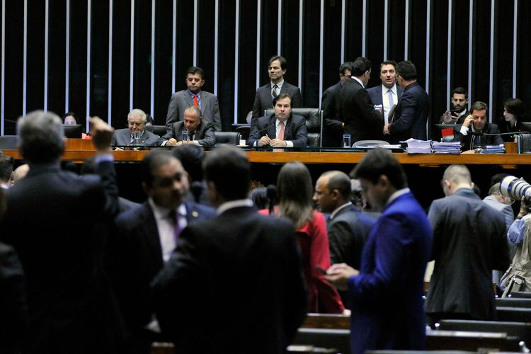 Sessão extraordinária para discussão e votação de projetos. Presidente da Câmara dep. Rodrigo Maia (DEM-RJ)