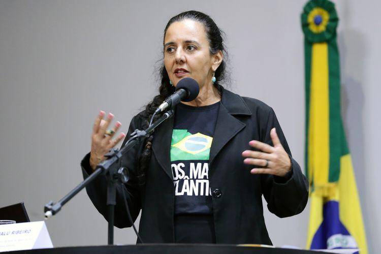 Lançamento da Frente, discussão sobre a tragédia do rompimento de barragem em Brumadinho (MG) e apresentação da expedição da SOS Mata Atlântica em Brumadinho. Coordenadora da Rede de Águas da SOS Mata Atlântica, Malu Ribeiro