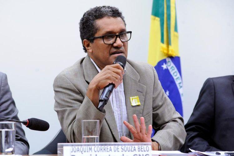 Audiência Pública sobre pagamentos por Serviços Ambientais. Presidente do CNS - Conselho Nacional das Populações Extrativistas, Joaquim Correa de Souza Belo