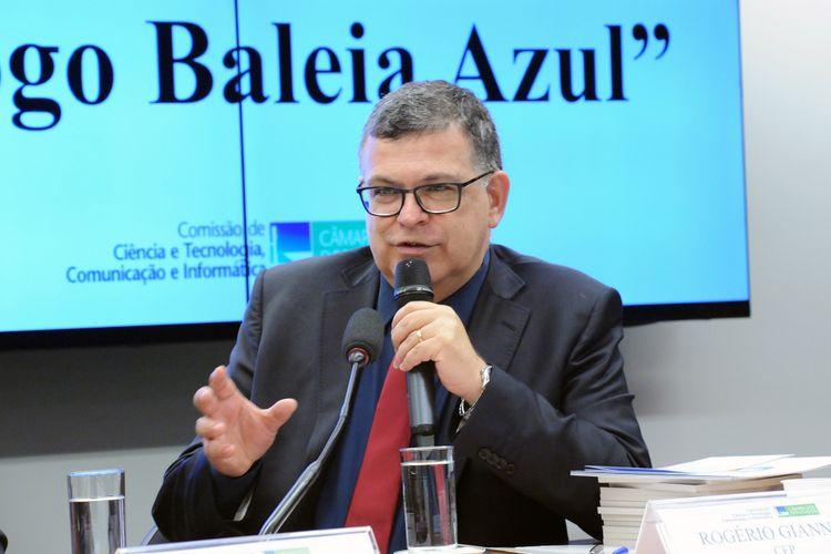 Audiência pública para debate sobre o jogo virtual Baleia Azul. Presidente do Conselho Federal de Psicologia (CFP), Rogério Giannini