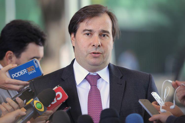 Presidente da Câmara, dep. Rodrigo Maia (DEM-RJ) concede entrevista