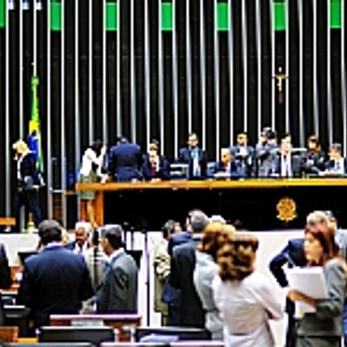 Movimentação de parlamentares durante sessão