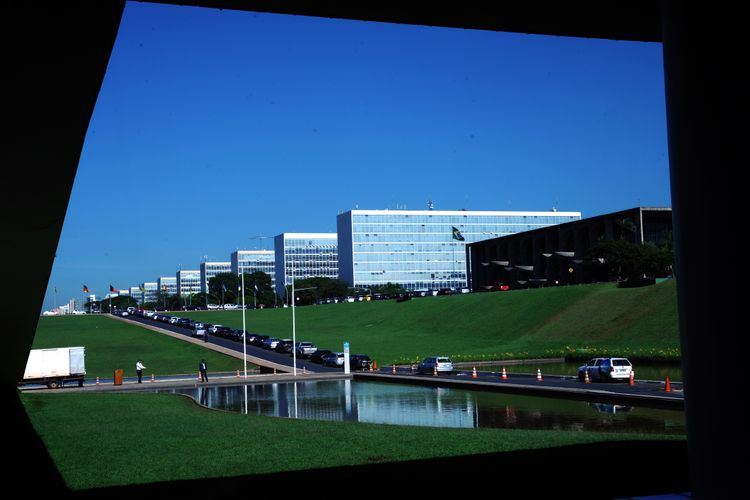 Ministérios visto das janelas do congresso - Esplanada dos Ministérios - 17/12/2012