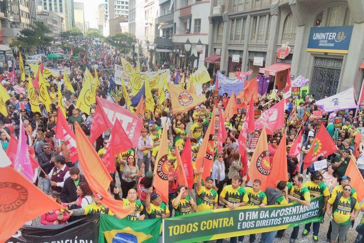 Manifestações - 2017 - Greve geral São Paulo 30.06