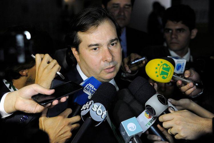 Presidente da câmara dep. Rodrigo Maia (DEM-RJ) concede entrevista