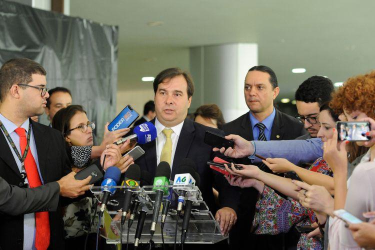 Presidente da Câmara dos Deputados, Dep. Rodrigo Maia (DEM-RJ) concede entrevista