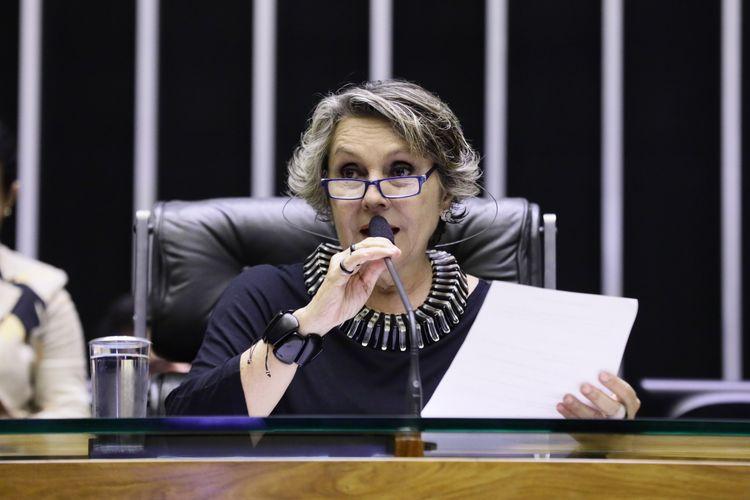 Sessão Solene em homenagem aos 96 Anos do Sindicato dos Bancários e Financiários de São Paulo, Osasco e Região - CUT. Dep. Erika Kokay (PT-DF)