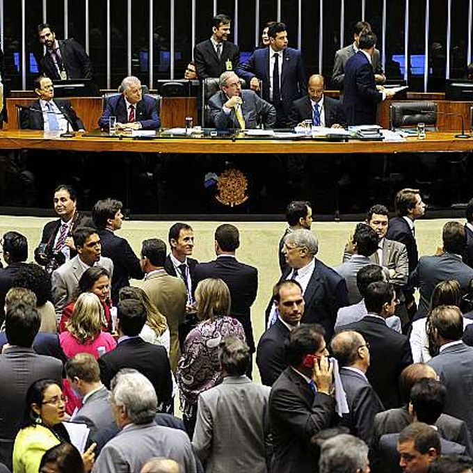 Discussão do PL 4330/2004 que dispõe sobre o contrato de prestação de serviço a terceiros e as relações de trabalho dele decorrentes. Presidente da Câmara, dep. Eduardo Cunha (PMDB-RJ)