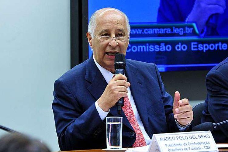 Audiência pública sobre as denúncias de corrupção envolvendo a FIFA e a CBF. Presidente da Confederação Brasileira de Futebol (CBF), Marco Polo Del Nero