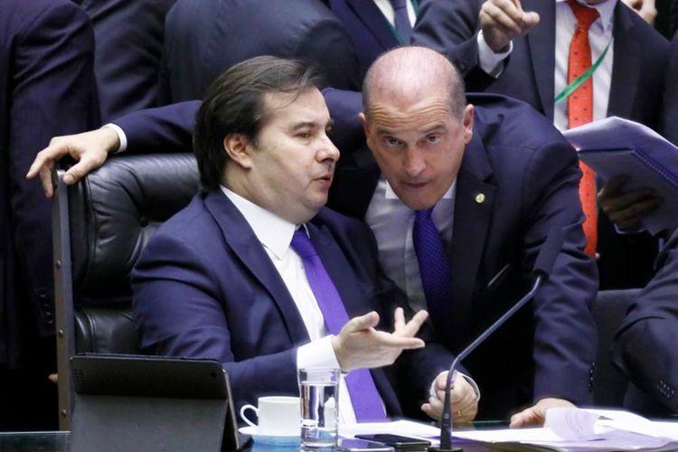 Discussão sobre a PEC 6/2019 - Reforma da Previdência. Presidente da Câmara, dep. Rodrigo Maia (DEM-RJ) e Ministro-Chefe da Casa Civil do Brasil, Onyx Lorenzoni