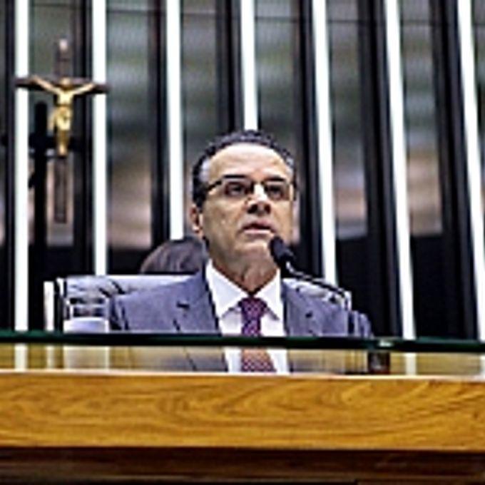 Homenagem aos 79 anos do Departamento Nacional de Produção Mineral (DNPM). Presidente da Câmara, Henrique Eduardo Alves (PMDB-RN)