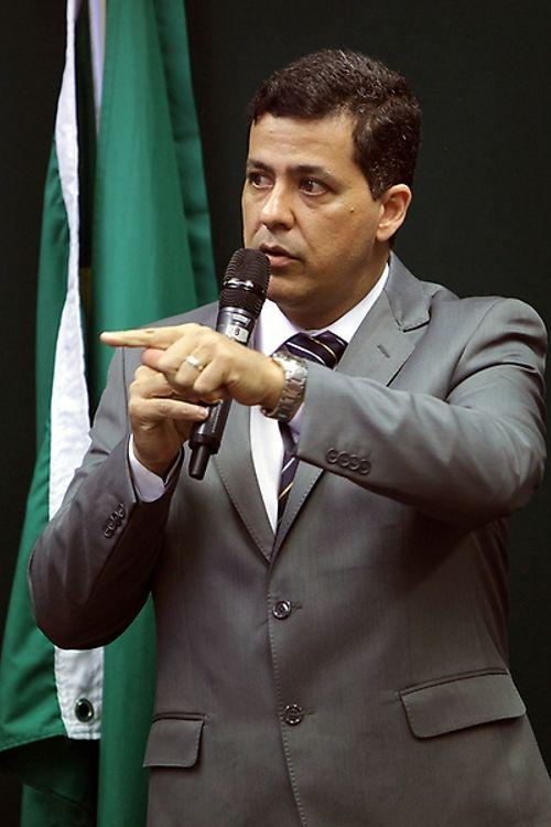 Reunião Ordinária e Audiência Pública. Vice-Presidente do Conselho Municipal do Idoso de Santos/SP, Devanir Paz