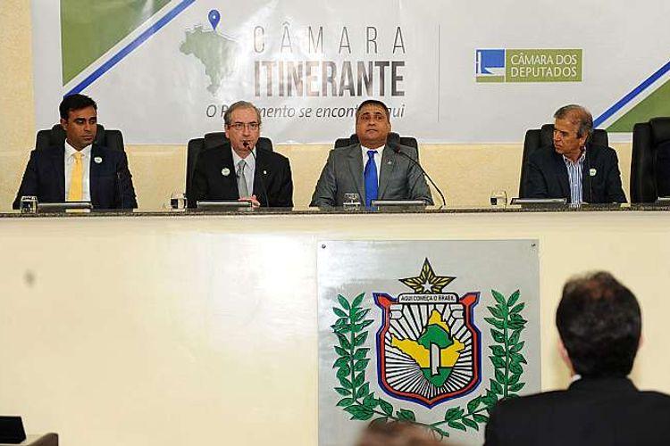 Presidente da Câmara dos Deputados (PMDB-RJ) Eduardo Cunha, recebe o título de cidadão do Amapá