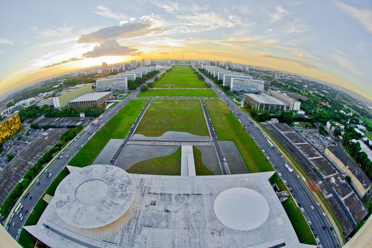 Brasília - Esplanada - Ministérios capital vista aérea