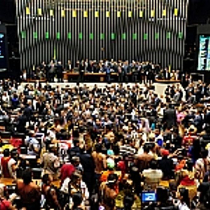 Em protesto, índios invadem o plenário