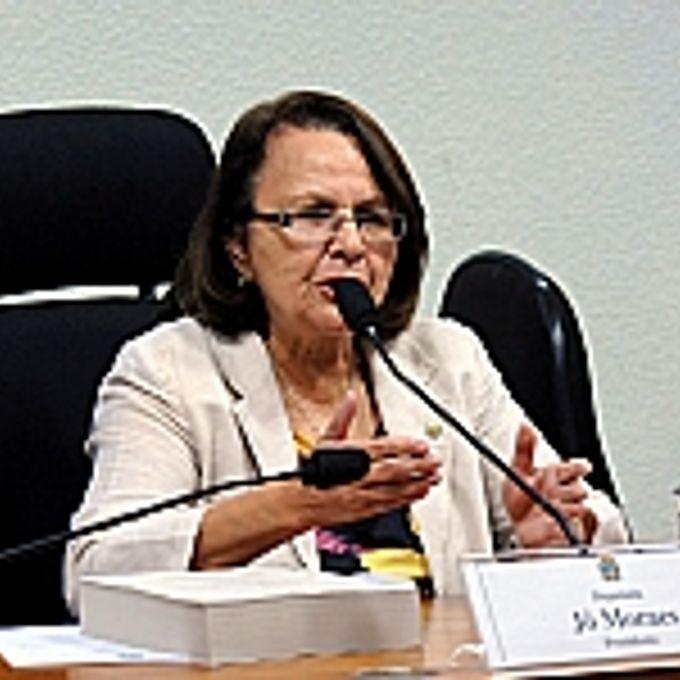 Reunião para discussão e apreciação do relatório final. Presidente da CPMI, dep. Jô Moraes (PCdoB-MG)